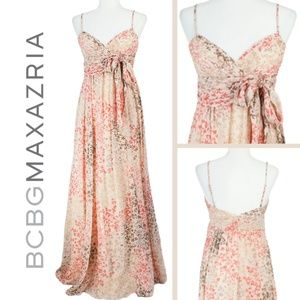 BCBGMaxazria Long Silk Dress